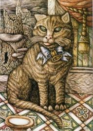 020 024 A cat waiting for its master, aquarel, Denton Welch,1946