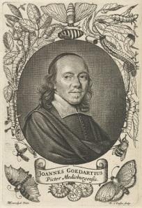 027 RP-P-1907-506 Portret van Johannes Goedaert, Reinier van Persijn, naar Willem Eversdijck, 1623 - 1668