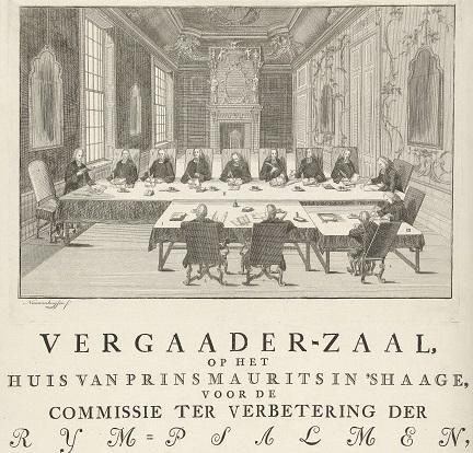 047 Bijeenkomst_van_de_Commissie_ter_Verbetering_van_de_Rijmpsalmen_in_het_Mauritshuis_te_Den_Haag