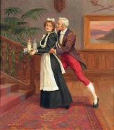 007 a William_Hounsom_Byles_The_gentleman_and_the_maid Bonham,