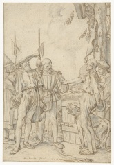 001 RP-T-1895-A-3045 Baljuw tracht de koe te kopen, Willem Pietersz. Buytewech, 1618