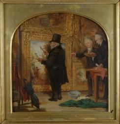 1915_10 Turner on Varnishing Day 1846 olie op paneel door William Parrott