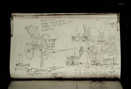 Dordrecht, Farmer's Cart and Three Sketches of Dort 1817 by Joseph Mallord William Turner 1775-1851