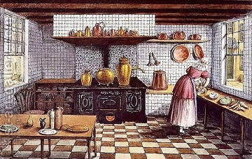 Kitchen-Of-The-Hotel-St.Lucas,-In-The-Hoogstraat,-Rotterdam,-1834
