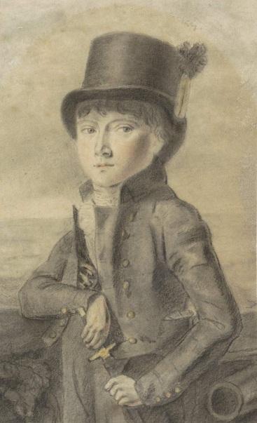 RP-T-1940-292 Portret van de kunstenaar Gijsbert Webbers, Ary Scheffer, 1805 - 1858