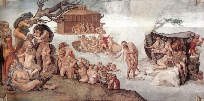 zondvloed_grt plafond Sixtijnse kapel Michelangelo_2