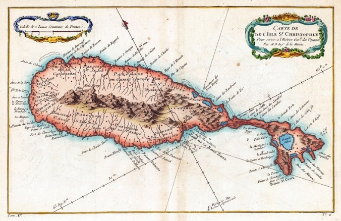 002 stchristopher1760map of st. kitts 1747