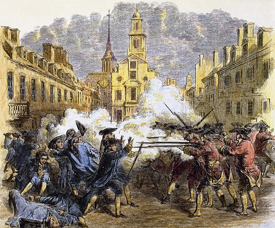 American Revolutionary War (1775-1783). The Boston Massacre (1770).