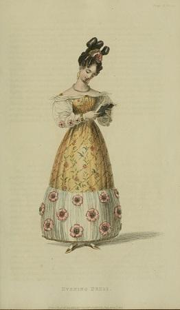 008 e Ser3 v11 1828 Ackermann's Fashion plate 22 - Evening Dress a la giraffe