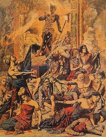 008 Puputan_of_the_Raja_of_Boeleleng ill le petit journal 1849