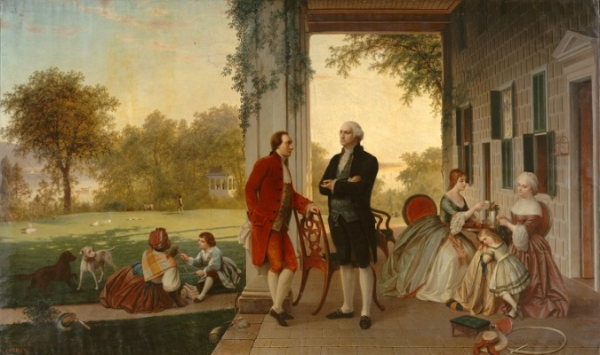 011 Washington_and_Lafayette_at_Mount_Vernon,_1784_by_Rossiter_and_Mignot,_1859 MET