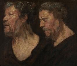 1899-B kopie Jaques Jordaens, studies kop Abraham Grapheus 1620 Mus Sch K in Gent