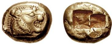 BMC_06 stater uit Lydia, 6de eeuw voor chr.