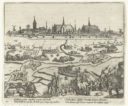 RP-P-OB-79.554 Beleg van Leiden, 1574, Simon Frisius, 1613 - 1615