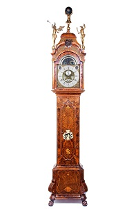014 f staand horloge ca 1740 met speelwerk