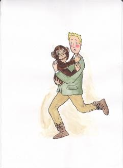 015 b Jongen met Chimpansee