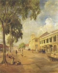 ernest-dezentjé-herinnering-aan-de-kali-besar,-batavia 1923
