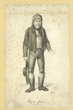 009 72-4055-1 Kaspar Hauser anon grav naar J.G. Laminit, ca 1830
