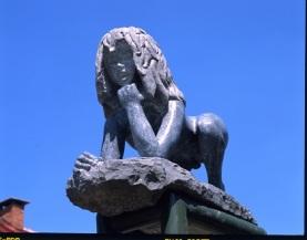 015 statue de victor door beeldh. Rémi Coudrain in Sinat Sernin sur Rance