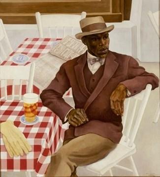 hatterman variete artiest Jimmy van der Lak, 1930 Stedelijk Museum