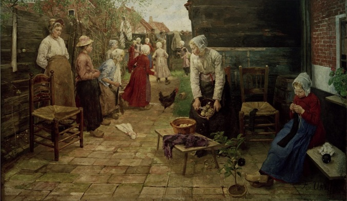 Fritz_von_Uhde_-_Der_Leierkastenmann_kommt_(1883) Kunsthalle Hamburg
