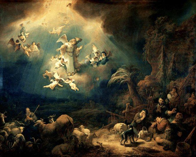 Govert_Flinck_-_Aankondiging_aan_de_herders Louvre 1639