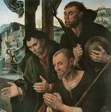 Hugo_van_der_Goes_-_Triptyque_Portinari_détail_3 Uffizi Florence 1475