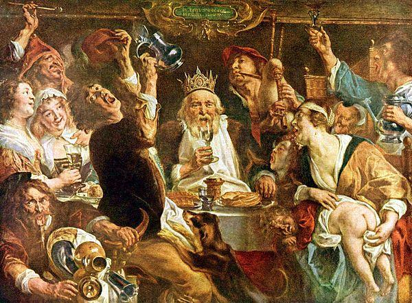 Jakob_Jordaens_001 De koning drinkt Kon Mus Schone Kunsten Brussel