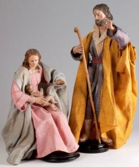 kerststal2 groepje Naplitaanse figuren 18de eeuw Museum Catharijneconvent