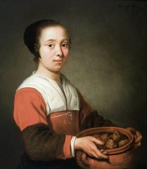 Meid_met_oliebollen,_door_Aelbert_Cuyp ca 1652 Dordrechts Museum
