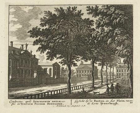 002 RP-P-BI-5597 Gezicht op het Plein in Den Haag richting de Korte Vijverberg, Pieter Schenk (I), Jan van Call (I), 1695 - 1705