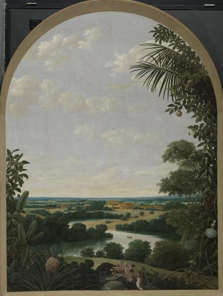 003 o SK-A-3224 Landschap in Brazilië, Frans Jansz. Post, 1652