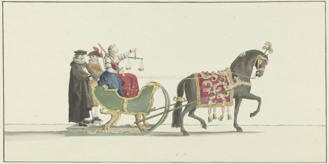 015 d RP-T-00-3713 egende slede, Abraham Delfos, 1776
