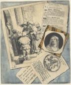 020 b RP-T-00-1611 Trompe-l'oeil met prenten en pamfletten, L. Groskopf, ca. 1746