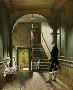 002 d Pieter_Christoffel_Wonder_-_The_Staircase_of_the_London_Residence_of_the_Painter_- 1828 Centr. Museum Utrecht woonhuis van schilder in Londen