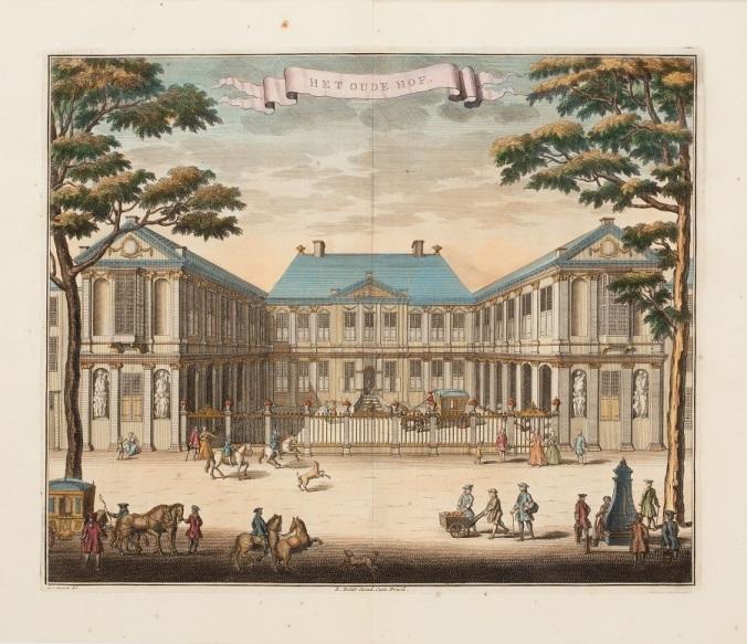 011 c Reiner-Boitet-Amsterdam-Holland-circa-1692-Oude-Hof den Haag Paleis Noordeinde door Gerrit van Giessen, circa 1692