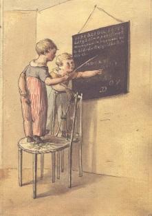 013 f Willem leert Gerrit op het bord Jacob de Vos