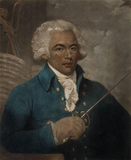 large Joseph Bologne gravure naar W. Ward Maritime Museum Londen