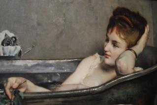 011 l 16353587 Alfred Stevens le bain 1874 Musée d'Orsay