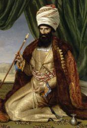 Portrait-Asker-Khan-ambassadeur-Iran-542x800 Césarine Davin Portrait d_Asker-Khan, ambassadeur d_Iran 1808 Huile sur toile Versailles, musée du Château de Versailles et du Trianon