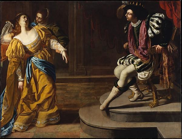 002 DT1440 Esther voor Ahasverus Artemisia Gentileschi MET