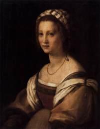 007 lucrezia The sitter of this portrait is Lucrezia di Baccio del Fede, the artist's wife. museo del Prado