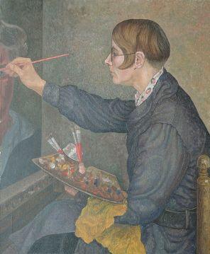 047 c Portret Charley Toorop door Jakob Nieweg, 1928 Simonis en Buunk