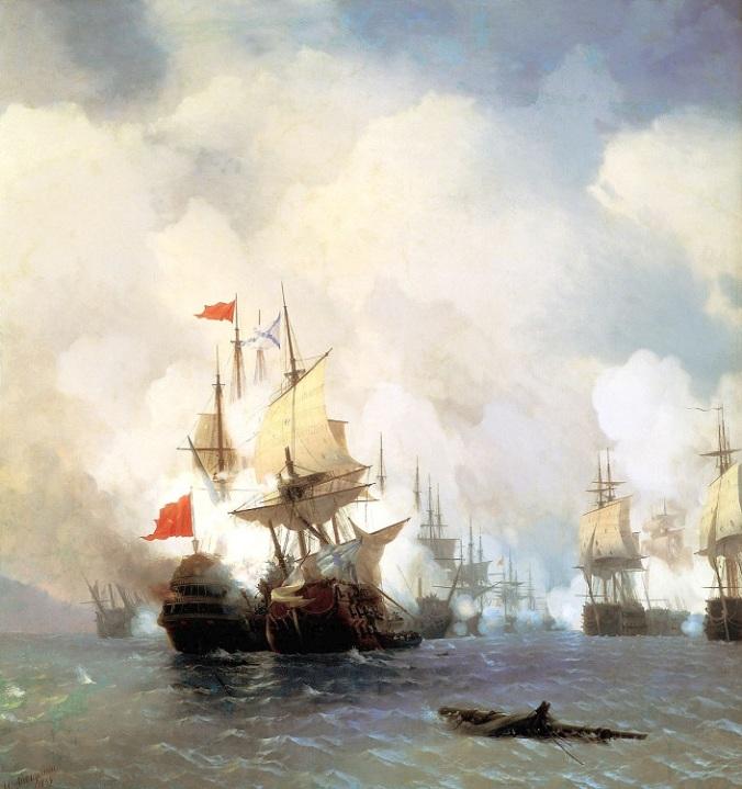 Battle_of_Chios_(1770),_by_Ivan_Aivazovsky_(1848) Aivazovsky Gall Feodosia Krim