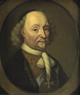 004 d SK-A-1676Johan Maurits (1604-79), graaf van Nassau-Siegen. Gouverneur van Brazilië, Michiel van Musscher, 1670 - 1680 johannieter kruis, Deense orde van de olifant
