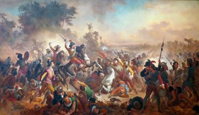 Victor_Meirelles_-_'Battle_of_Guararapes',_1879,_oil_on_canvas,_Museu_Nacional_de_Belas_Artes,_Rio_de_Janeiro_2 door Victor Meirelles