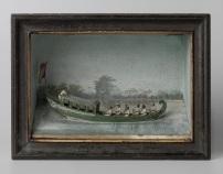 H 015 NG-2013-22-1 Diorama met een tentboot, Gerrit Schouten, 1817