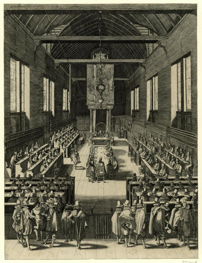 RP-P-AO-14-42 De synode van Dordrecht, 1618, François Schillemans toegeschreven aan naar François Schillemans