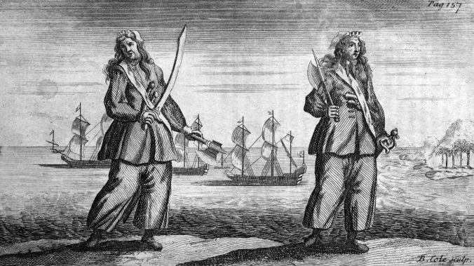 001 General_History_of_the_Pyrates_-_Ann_Bonny_and_Mary_Read-58af55f53df78cdcd8780465 Ann Bonny and Mary Read. Engraved by Benjamin Cole[2] (1695–1766