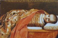 001 012 m Der gewickelte Prinz von Urbino in der Wiege, 1605, Gemälde von Federico Barocci (1528-1612) 1605
